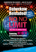 "Daberkow Reloaded ""No Limit"" - die 90er & 2000er Party - am Sa. 07.10.2017 in Jarmen (Vorpommern-Greifswald)"