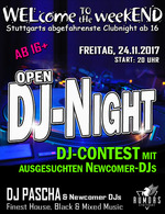 WELcome to the weekEND - Open DJ-Night (ab 16) am Freitag, 24.11.2017