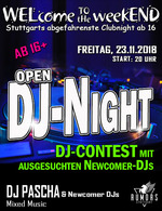 WELcome to the weekEND - OPEN-DJ-NIGHT (ab 16) am Freitag, 23.11.2018