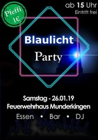 Blaulicht-Party am Narrensprung am Samstag, 26.01.2019