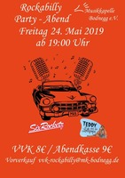 Rockabilly Party-Abend am Freitag, 24.05.2019